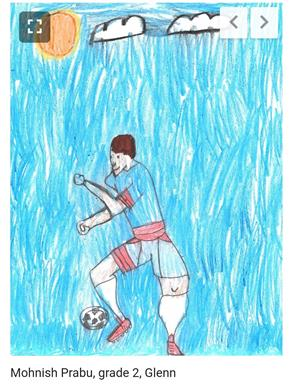 Drawing of a Soccer Player