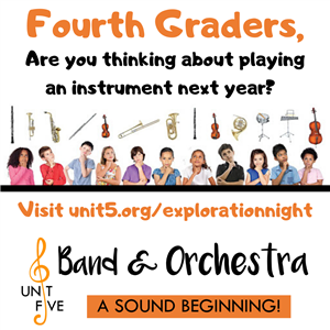 Students interested in playing an instrument next year?