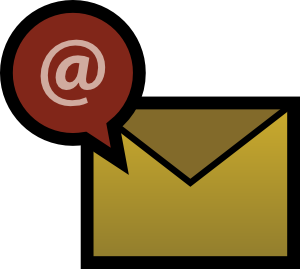 envelope with the at symbol