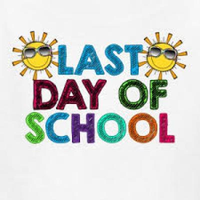 Last Day of School with sun clipart