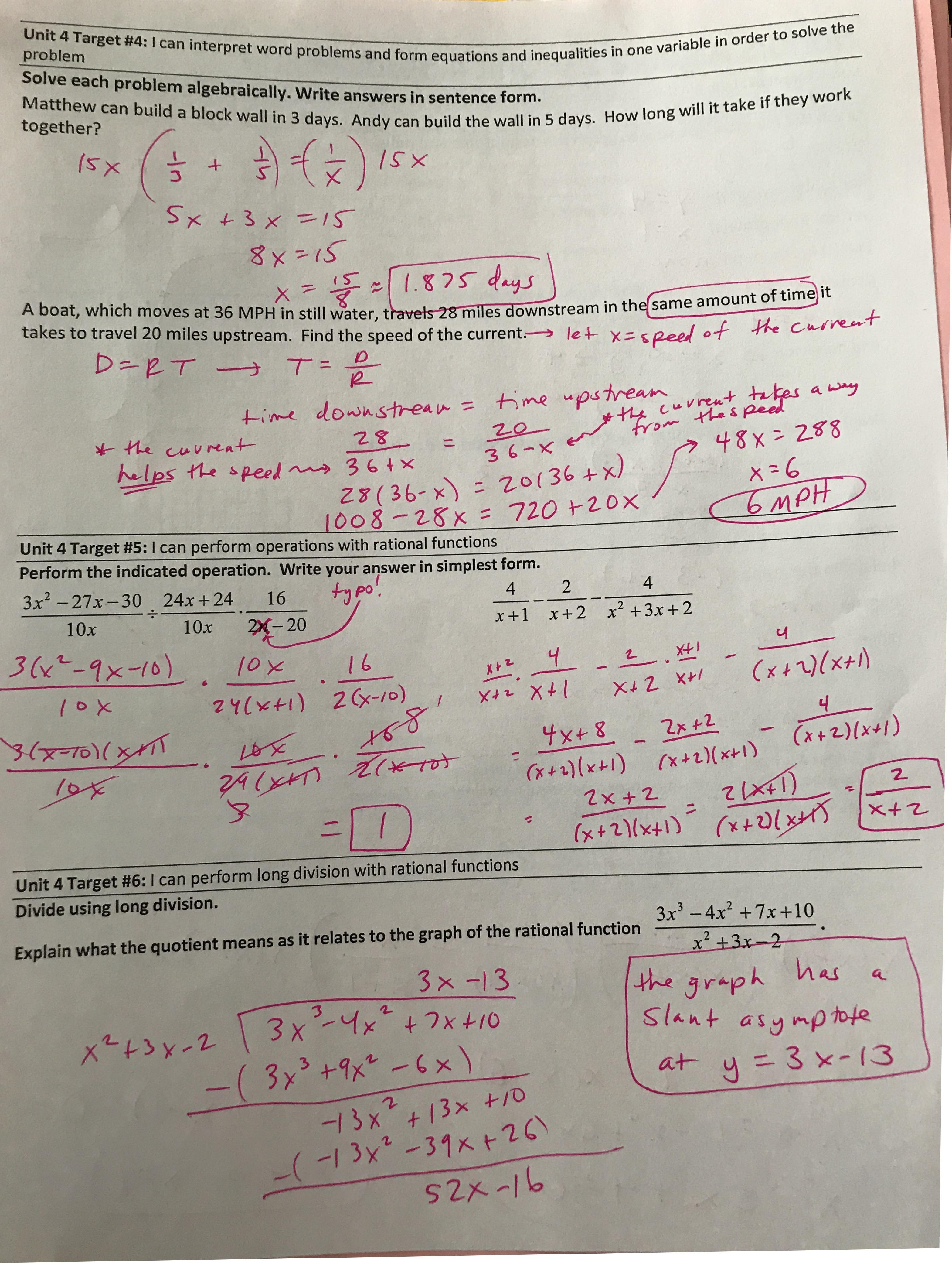 Schermann, April / Honors Algebra 2