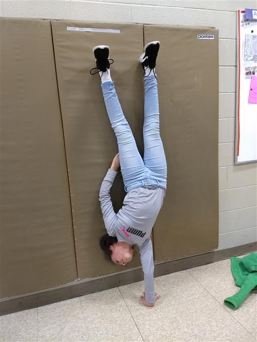 One-handed handstand, Emily Smith