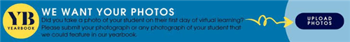 Hyperlinked banner to upload images for the yearbook