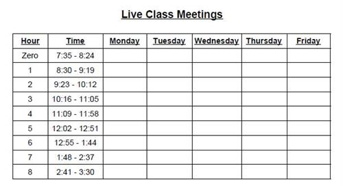 Scheduled Meetings