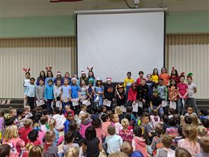 5th Grade Leaders for the Winter Sing-Along