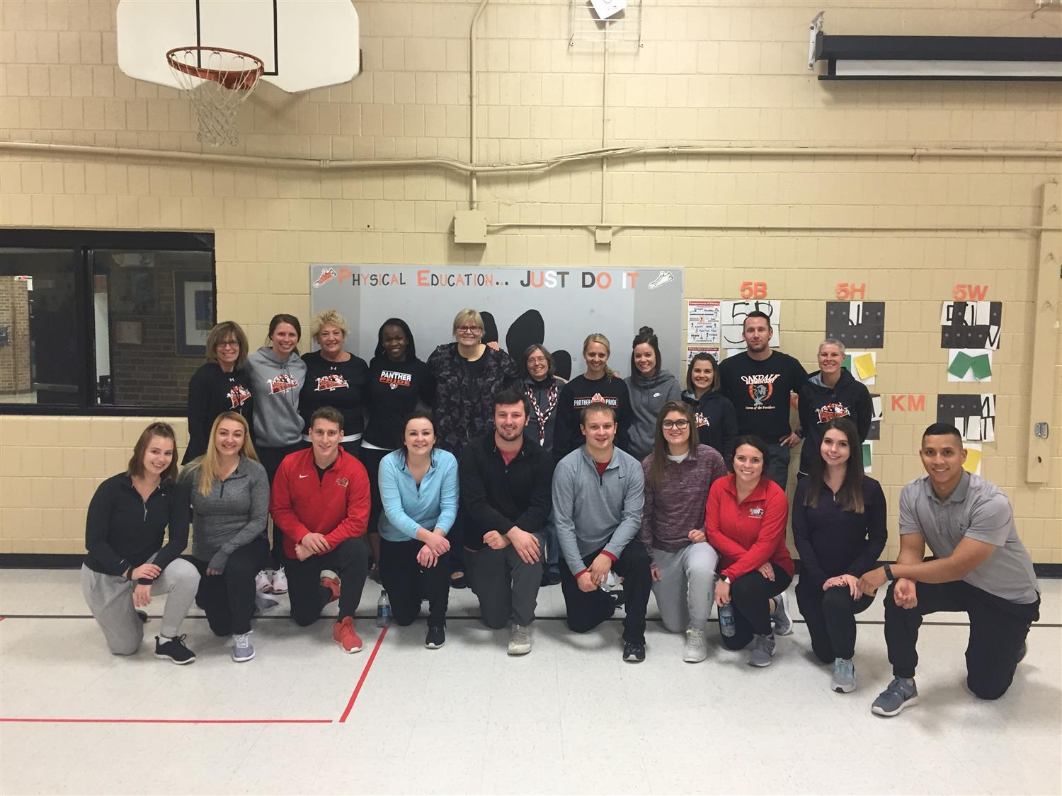 Oakdale Elementary School; Family Fitness Night; Staff Bell Ringing